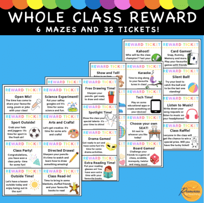 Whole Class Reward Mazes and Tickets