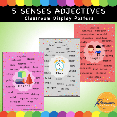 Five Senses and Extras Adjective Posters