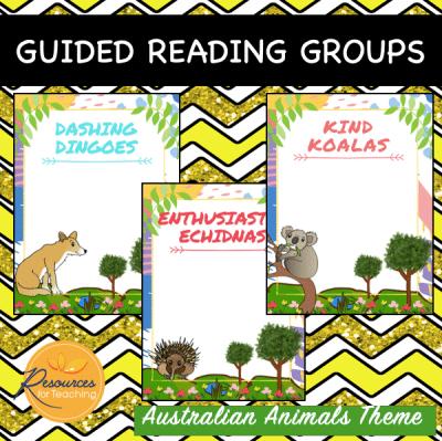 Australian Native Animals Reading Groups