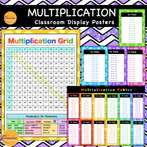Multiplication Display Posters and Charts
