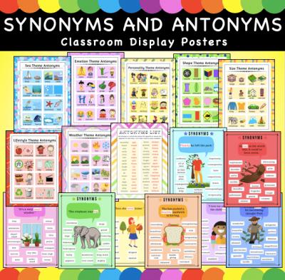 Synonym and Antonym Posters