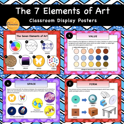 Elements of Art Display Posters