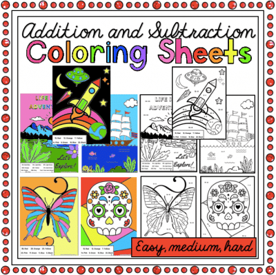 Addition and Subtraction Colouring