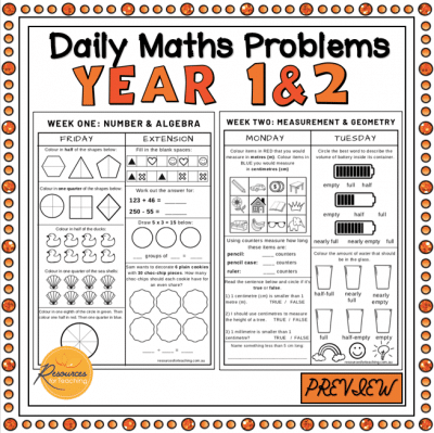 Daily Maths Problems Booklet