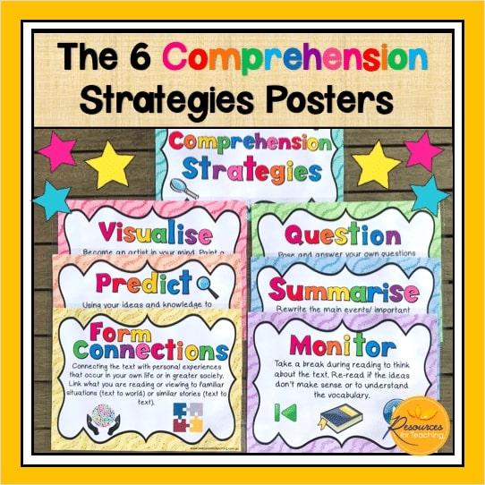 6 Comprehension Strategies Posters
